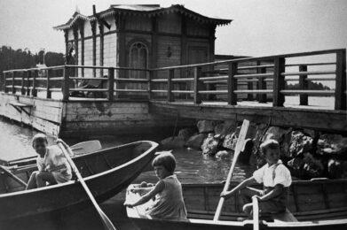Lindarsin laituri ja uimahuone 1935 / Kuva: Turun museokeskus
